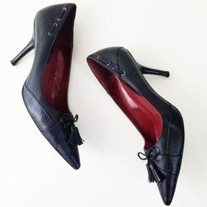 Nine West | Monanza Tasseled Black Leather Pump